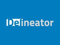 Delineator Logo Animation Blue
