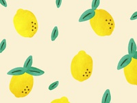 Lemons Illustrated Pattern