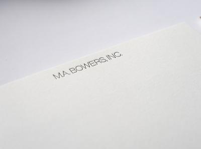 M.A. Bowers, Inc. Identity