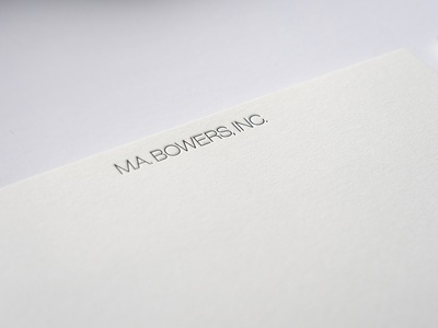 M.A. Bowers, Inc. Identity pangram stationery design stationery letterpress color palette brand refresh brand identity design brand identity monogram vienna secession secession brand identity concept acb wordmark visual identity logo graphic design branding typography design