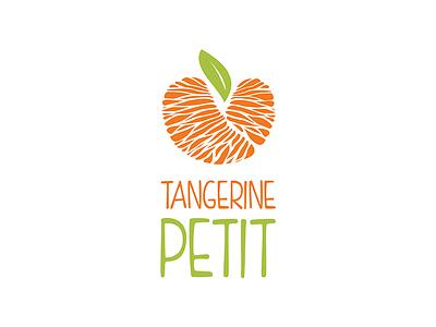 Tangerine Petit Logo organic tangerine petit love heart nutrition baby food branding logo