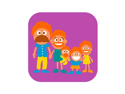 Family badge illustration flat badge vector illustrator cowboy kids
