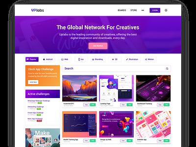 Redesign Uplabs dashboard redesign uiux app design