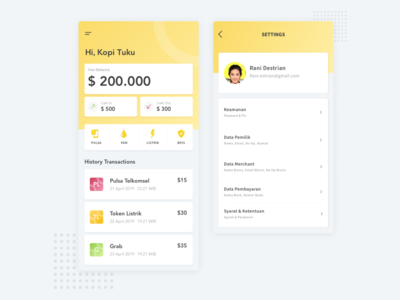 Dashboard Mobile App Finance