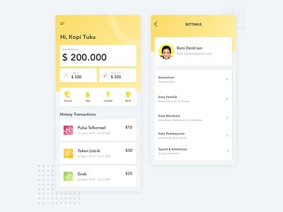 Dashboard Mobile App Finance dashboard money transfer money app finance fintech