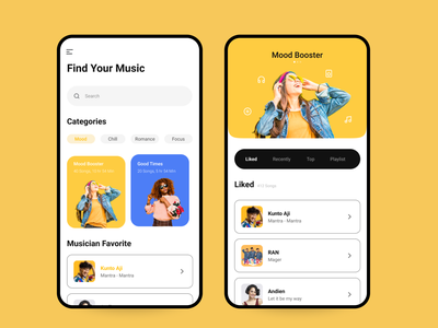 Music app single page category app application music app music player music app