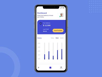 Investment Mobile App fintech app application fintech uiux user interface mobile app dashboard ui investment