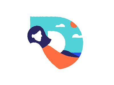 Darwin letter illustration logo icon
