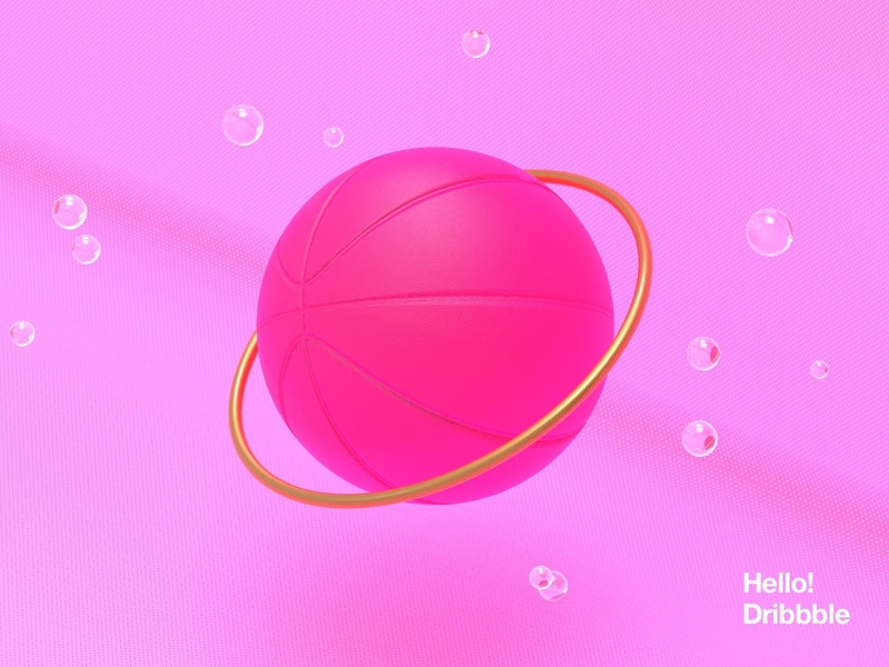 Hello Dribbble! dribbble abstract art firstshot ui debut hello 3d