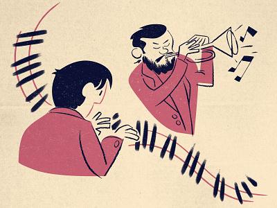Jazz Night jazz cartoon modern cartoon illustration