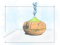 Water diffuser sketch