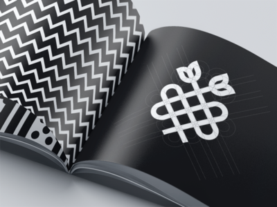 Floral symbol vector illustration icon flat clean logo branding design
