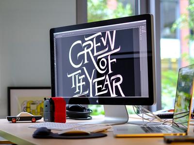 Our office art brush workspace brushlettering lettering branding