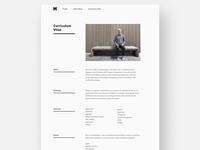 Portfolio Redesign 2017 / Curriculum Vitae