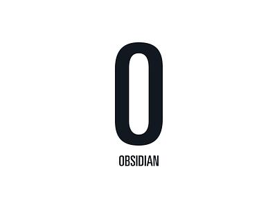 Obsidian Vertical Lockup monochrome obsidian branding mark lockup identity logo