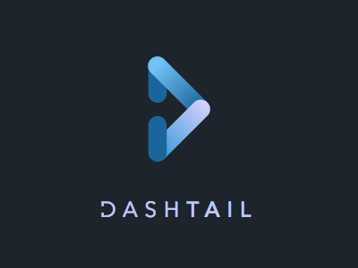 Dashtail logo dashtail logo branding retail platform gradients
