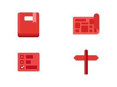 Swifty Icon Set red flat illustration ios icons swift swifty