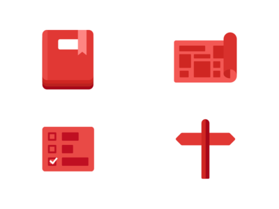 Swifty Icon Set red flat illustration ios icons swift swifty