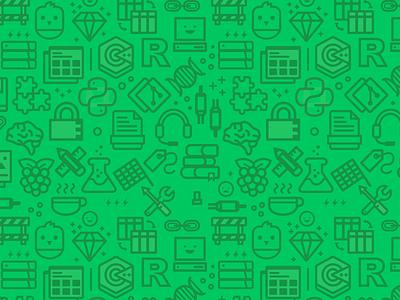 Mimo Coding Pattern icons code programming pattern illustration