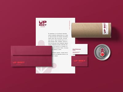 UBG Brand Identity logo design branding branding brand design logos logo illustrator goods up beet minnesota beets logotype red wordmark identity brand vegetable maroon beet logo design mn
