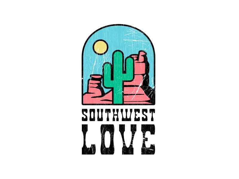 Southwest Love landscape sun saguaro arizona cactus desert cowgirl cowboy southwest