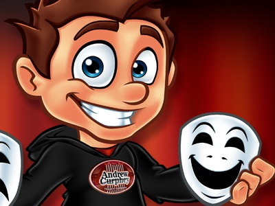 Andrew Curphey - Mascot Design theatre mascot character human cartoon mascot design logo design photoshop