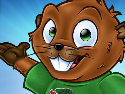 Wildwood Nature Trust - Mascot Design wildwood beaver mascot design logo design animal nature cartoon character