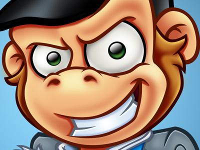 Redcoat Monkey mascot design character design redcoat monkey ape chimp cartoon
