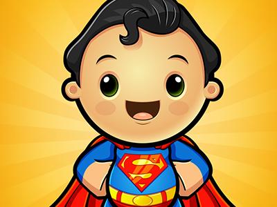 kawaii superman by neil richardson dribbble dribbble