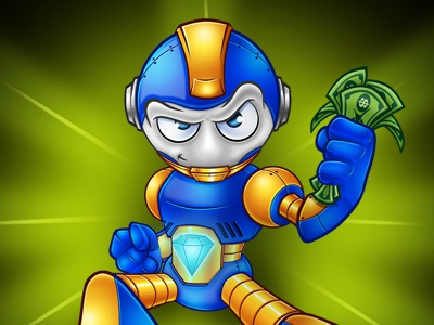 Bling the Robot Mascot