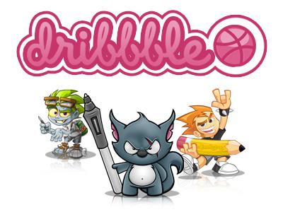 Dribbble Invite - Thank You cartoon mascot design designwolf rockdoodle mljarmin rockstar wolf zombie