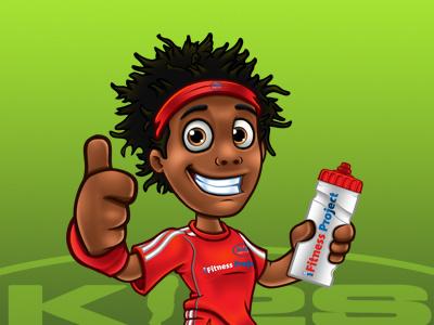 Kidz In2 Sport Mascots mascot cartoon characters sport fittest comic relief design illustration