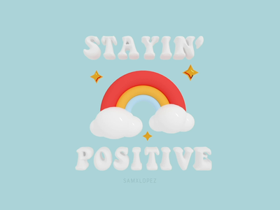 Stayin' Positive clouds staypositive rainbow positive
