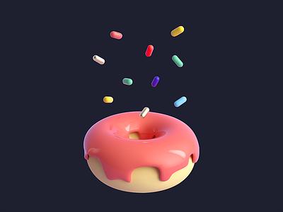 Donut + Sprinkles pastry sugar sprinkles donut