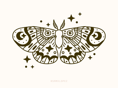 Moth Tattoo Design sparkles traditional tattoo moth