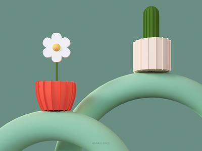 Paper Plants cinema4d octane paper plants