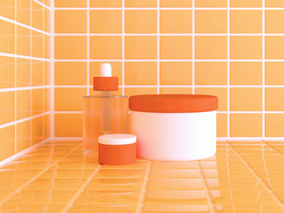 Skincare Products octane cinema4d skincare beauty