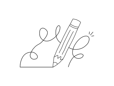 think clever line illustration simple clever pencil