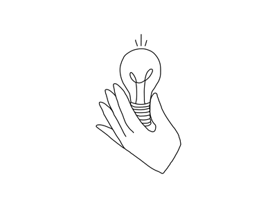 seek the core principles think core idea lightbulb hand