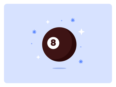 8-Ballin' floating magic sparkles 8ball