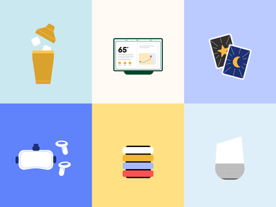 Products google home google tarot card cocktail oculus shopping objects products
