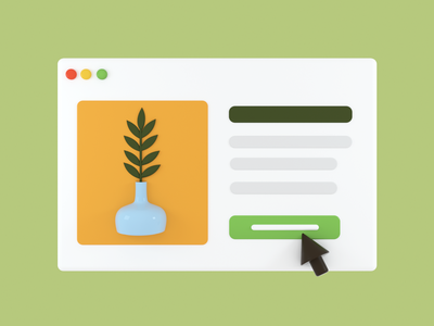 Browser Mockup - Plant Shoppin' interface internet online shopping browser plant