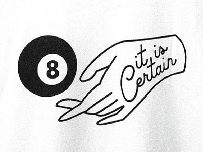 First Tee Design! magic mystery certain question hand 8ball