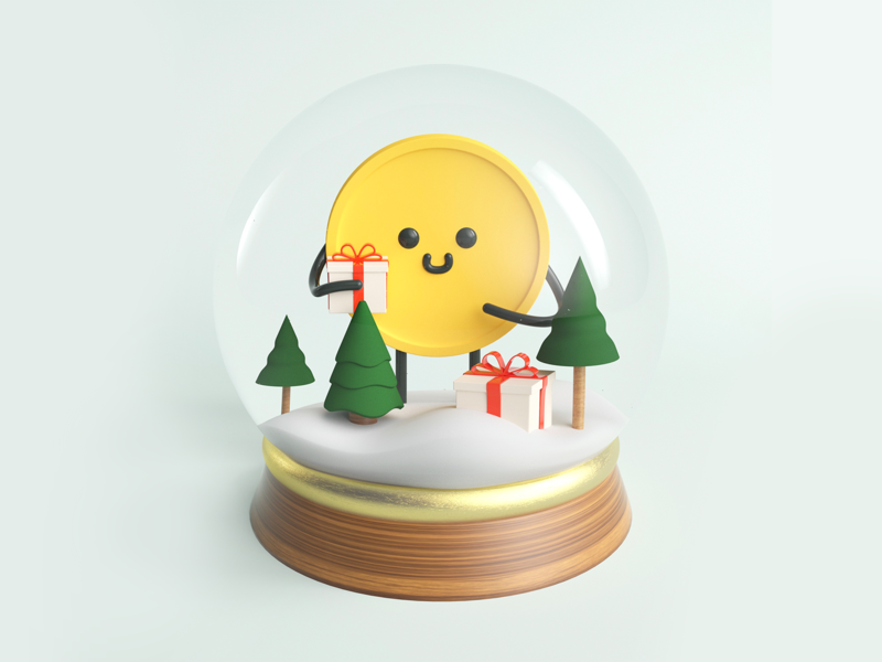 3D Coiny gifts holidays snowglobe coiny