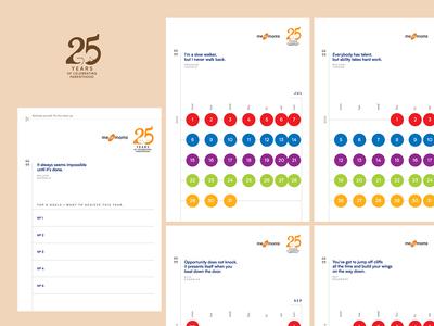 25 Anniversary Calendar