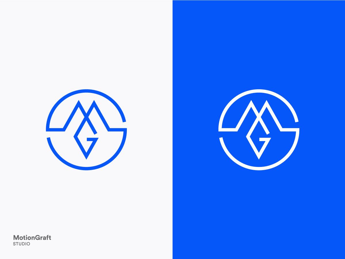 MotionGraft Studio Monogram geometric monogram concept logo vector minimalism