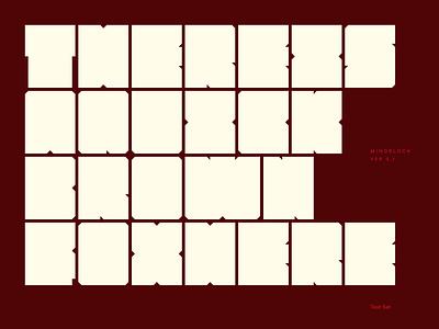 Mindblock 0.1 readability minimalism design typography concept