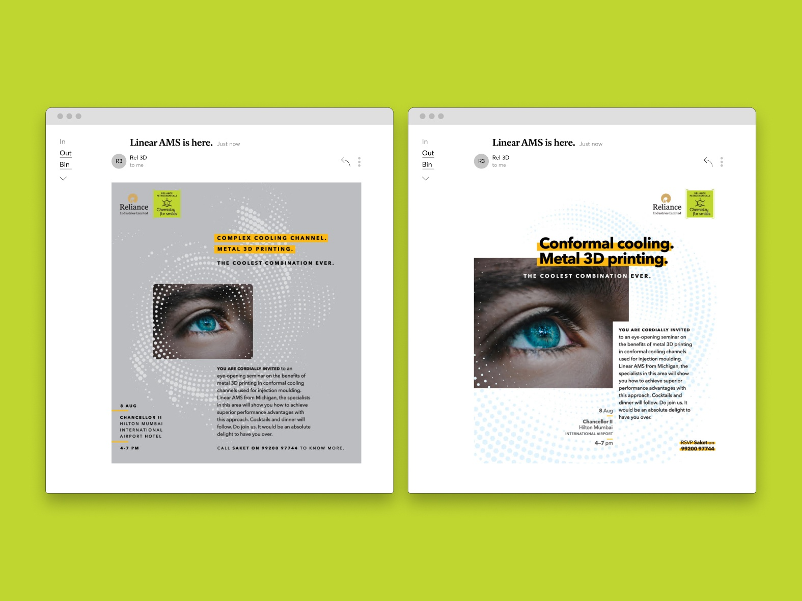 email about cool stuff 3d typography grids layout email branding design