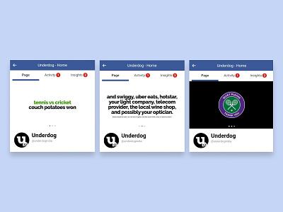Facebook Cover hotstar ubereats swiggy branding sports typography raleway google font series writing facebook
