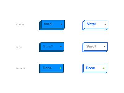 Vote Now button button design writing button web vector design ui ux concept